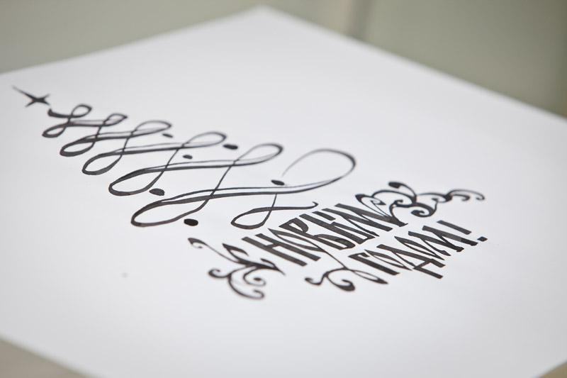Ручная подпись открыток, открыток