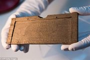 Earliest handwritten 'notepad' unearthed in London: Discovery of 410 wooden tablets gives glimpse into life of city's first Romans