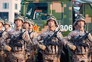 PLA soldiers prepare for Victory Parade