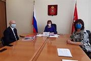 阿列克谢•萨布罗夫与图拉州政府副主席奥•彼•格雷米科娃举行会晤
